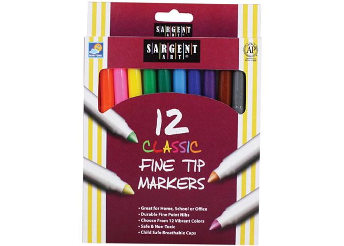 Sargent Art 22-1583 30-Count Washable Fine Tip Marker Pouches
