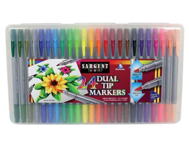 Sargent Art 22-1581 50-Count Fine Tip Washable Marker Packs