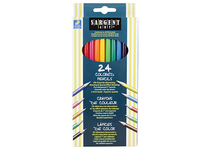 ART CRAFT 36 PACK OF CHILDRENS KIDS HALF SIZE SMALL COLOURING COLOUR PENCILS