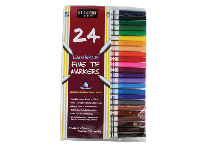 Sargent Art 22-1581 50 Count Fine Tip Washable Marker Packs